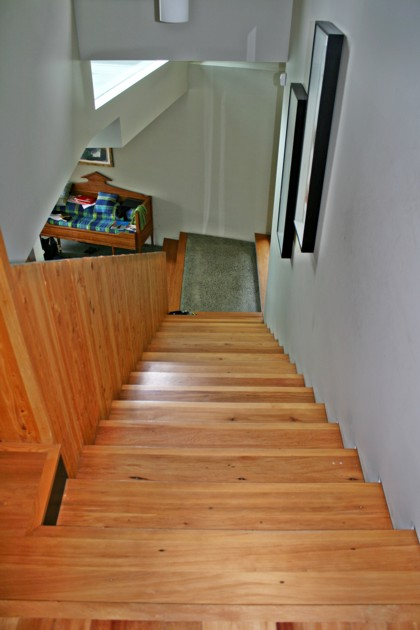 Image of internal stairs by Wainui Joinery